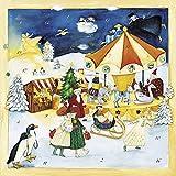 'Weihnachtsmarkt' Duft-Adventskalender mit Lebkuchen- und Tannenduft hinter dem 6. und 24. Türchen