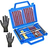 N\A Yolistar Kit de Réparation de Pneu 24PCS,Coffret de Réparation Outils de Réparation Vélo/Moto Multifonctionnel,Kit de Rep