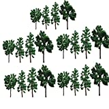 Modell Bäume 20 Stk. Evemodel Gemischte Bäume 8cm-12cm Modellbahn Landschaft Architektur Bäume 1:25-1:300
