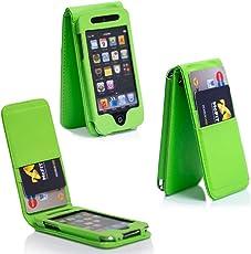 """COWHIDE """"CUBA"""" Hülle für Apple iPod Touch 4 - Tasche Cover Case Etui Schutzhülle Schutztasche für iPod Touch 4G 4th Generation in Grün"""