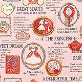 Pfirsichfarbenes Oxfordgewebe mit Keksen und Prinzessinnen