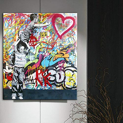 Wanmeidp Nunca te Rindas Pared Lienzo Graffiti Pared