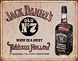 Jack Daniel 's–Tennessee Hollow Blechschild 40,6x 33cm