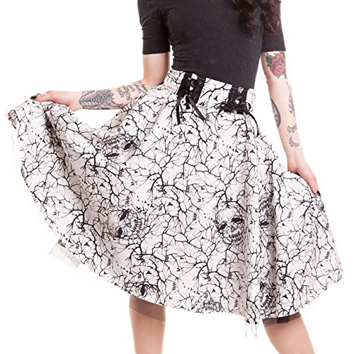 Vixxsin Rock AURORA SKIRT Weiß -