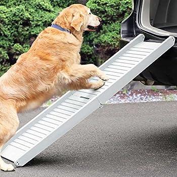 Poids léger pliable de voiture van SUV Chien pour animal domestique Rampe télescopique Rampes aux personnes âgées d'arthrite