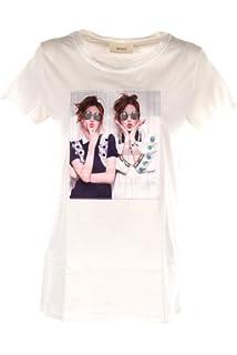 VICOLO T-Shirt Donna Bianco Rc0734 Primavera Estate 2018