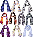 #5: Scarves (Weavers Villa Set Combo of 10 Scarves Soft PolyCotton Fashion Trendy Women's Summer Scarf)