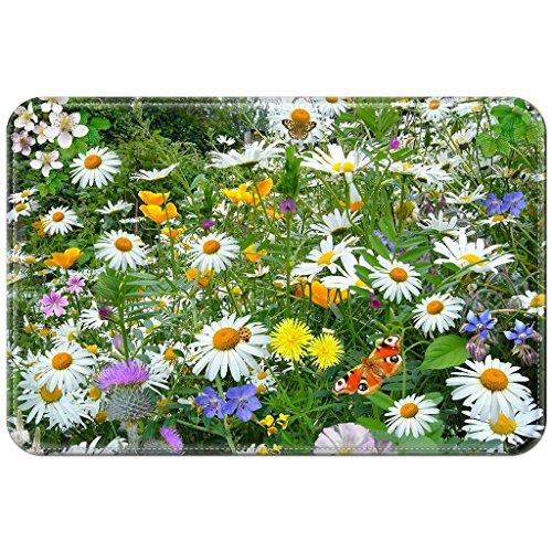 Violetpos Fußmatte 45 x 75 cm Schmetterlinge Blume Fußmatten / Sauberlaufmatte für Innen & Außen