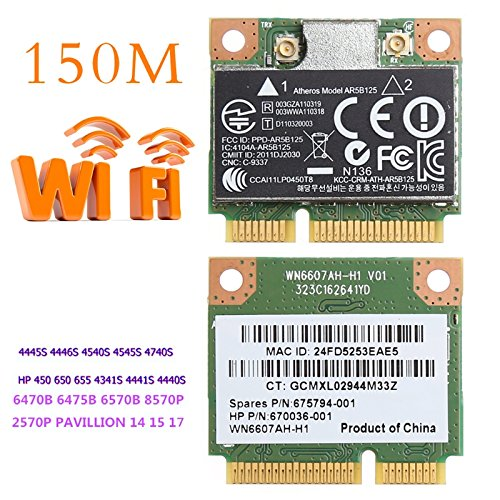 Brolux(TM) PCI-E Card Adapter Wireless 150M WiFi WLAN Per Atheros AR5B125  SPS 675 794-001 HP PN 670 036-001
