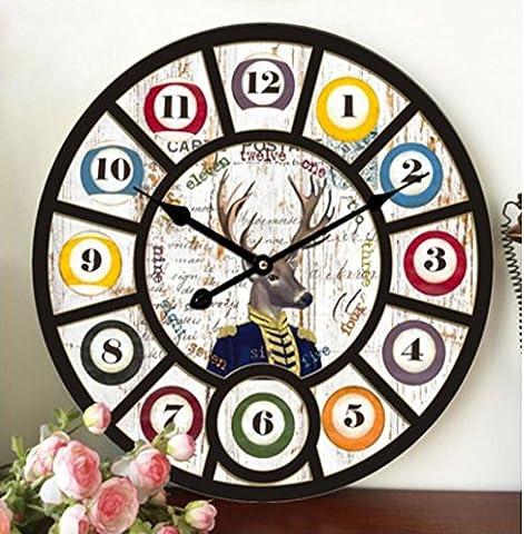 SUNNY KEY-Uhren@Vintage industrielle Wind Wohn-Zimmer-Schlafzimmer ruhig römische Ziffer Wanduhr 39m / 58cm , 39cm