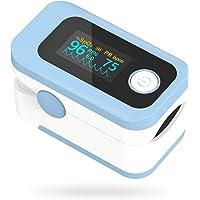 Wawech 4 in 1 Saturimetro Professionale Pulsossimetro da dito con Display multidirezionale Ossimetro per Saturazione di…