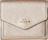 Die besten Coach Womens Wallets - Coach Womens Small Wallet in Metallic Leather Bewertungen