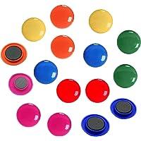 Lot de 24 aimants de bureau ronds colorés pour réfrigérateur et tableau blanc, 6 couleurs différentes