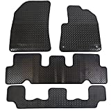 JVL Citroen Grand C4 Picasso MK2 2014+ Fully Tailored 4-Piece Rubber Car Mat Set with 2 Clips - Black
