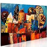 murando - Bilder Stadt 100x70 cm - Leinwandbild - 1 Teilig - Kunstdruck - modern - Wandbilder XXL - Wanddekoration - Design - Wand Bild - Abstrakt bunt 0104-13