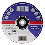25 Stück SBS Trennscheiben 230 x 2,0mm INOX Flexscheiben Metall-Trennscheiben