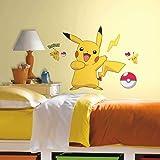RoomMates Pokemon Pikachu Peel And Stick Wall Decals - RMK2536GM,Multi