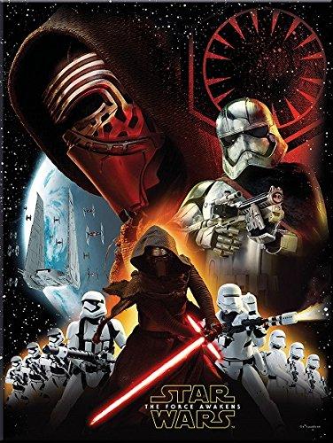 Procos 86216 - Tovaglia Plastica Star Wars The Force Awakens, 120 x 180 cm, Nero/Bianco/Rosso
