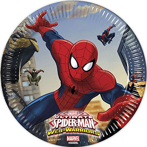Procos 85152-Teller Papier Ultimate Spider Man Web Warriors, Ø20cm,