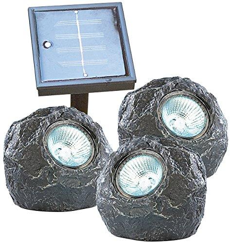 Lunartec sous trio-leuchten u-stones avec solarstation de 3