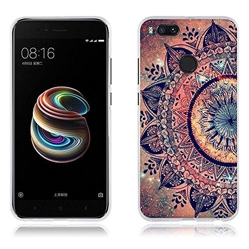 FUBAODA Xiaomi Mi A1/Xiaomi Mi 5X Funda TPU de Gel de Silicona, Lujoso Dibujo de un Mandala,Resiste a los Arañazos,Carcasa Protectora de Goma Xiaomi Mi A1/Xiaomi Mi 5X