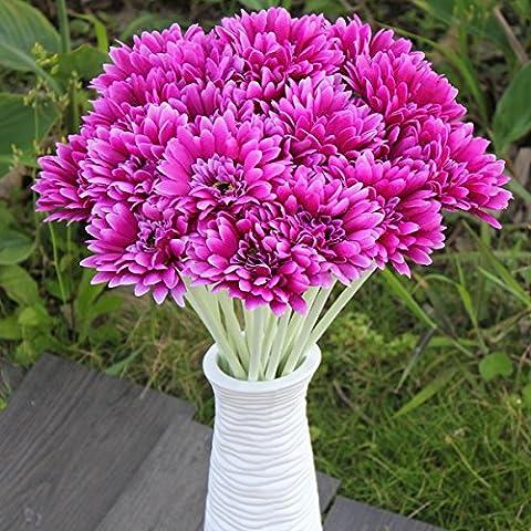 10pcs Sunbeam künstliche Blumen Mama Gerber Gänseblümchen Brautblumenstrauß Silk Hochzeitsfest
