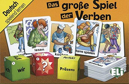 Das große Spiel der Verben: 100 Karten und 3 Würfel (Große Spiele)
