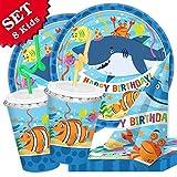 Deko-Set Meerestiere, 48-teilig für Kindergeburtstag und Unterwasserparty