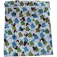 Generic - Infantil del bebé impermeable de la cremallera del paño reutilizable bolsa de pañales (bird y patrón house)
