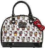 Hello Kitty Junk Food Bowler Handbag White Size: One size