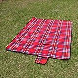 PENVEAT 5dimensioni Outdoor Beach picnic pieghevole da campeggio, da campeggio impermeabile Sleeping Pad Mat Moistureproof coperta plaid, rosso, 180x 150cm