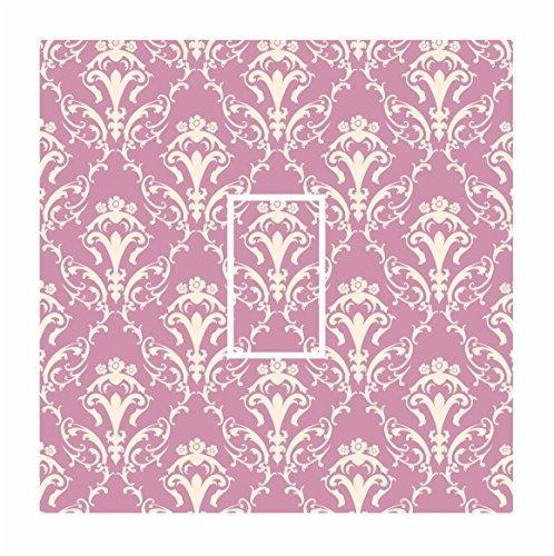 Preisvergleich Produktbild Sticar-it Ltd Pink & Creme Damast Muster Lichtschalter Aufkleber vinyl schutzhülle klebefolie Für Jede Zimmer