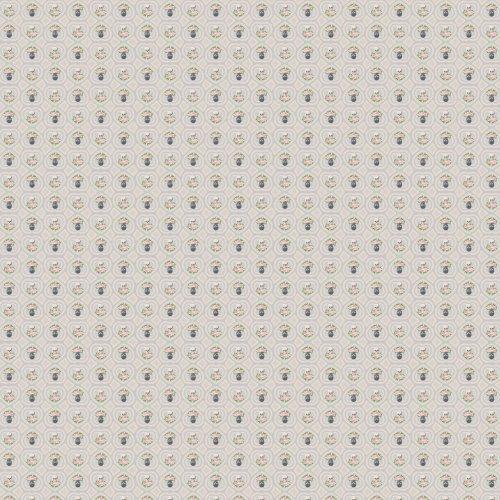 WallCandy Arts Removable Wallpaper, Hearts and Skulls Gray