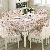 Tischdecken/Tuch/ dining Stuhl Kissen/ European-Style-Tischdecke/ Abdeckung/Stuhlhussen Kissen-Set-A 130x180cm(51x71inch)