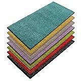 Teppich Läufer Luxury | moderne Shaggy Optik mit flauschigem Hochflor | Teppichläufer in vielen Farben für Flur, Schlafzimmer, Wohnzimmer etc. | viele Breiten und Längen (80 x 200cm, türkis)