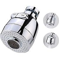 Aérateur de Robinet - Peut Pivoter de 360 Degrés/Passoire d'économie d'eau/Jet aéré et Jet de Douche Deux Modes d'eau