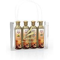Camylle - Sélection Voile de Sauna présentée dans un superbe sac Camylle comprenant quatre flacons : 1 x 250ml Luxe - 1…