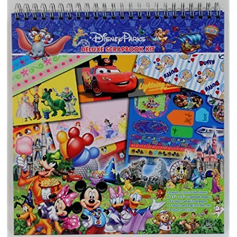 Disney Parks Deluxe Scrapbook Kit - Disney Parks Exclusive & Limited Availability by Disney Theme Parks Merchandise - Disney Scrapbook Kit
