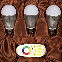 ENRG LED Latest Design Bulb Prism- Fully Remote Controlled with 256 Colours -Set of 3 pcs Prism Bulb & 1 Remote - 2 Year Warranty MFN 5221007