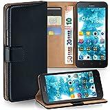 moex Huawei Y625 | Hülle Schwarz mit Karten-Fach 360° Book Klapp-Hülle Handytasche Kunst-Leder Handyhülle für Huawei Y625 Case Flip Cover Schutzhülle Tasche
