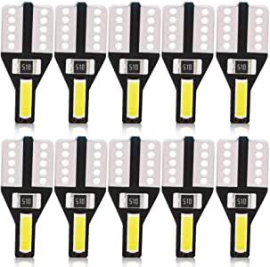 BeiLan 10pcs T10 LED W5W Lampadine 2-SMD 7020 auto Cuneo DC12V Luci bianche luminoso eccellente Luci ricambio per interni auto Lampadine del cruscotto Luci targhe 2825 175 192 168 194 501