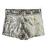 RXL-shorts Costume da Discoteca DS Costumi Pantaloncini con Paillette Pantaloncini da Danza Polo Pantaloncini da Spiaggia (Dimensioni : XL)