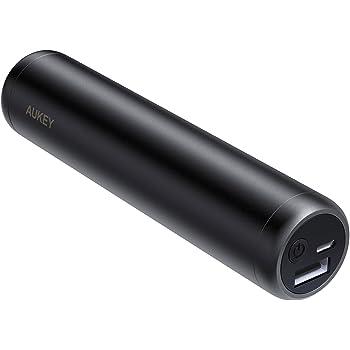 AUKEY Mini Batterie Externe 7000mAh, Batterie de Secours pour iPhone X/ 8/ Plus/ 7/ 6s, Samsung S8+/ S8, iPad, etc.(Noir)