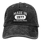 Made In 1977 All Original Parts Unisex Adult Adjustable Denim Dad Cap