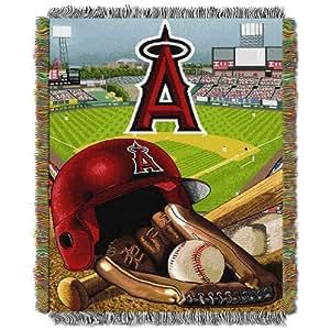 MLB Couvre-lit Motif MLB :  anges Anaheim de Los Angeles