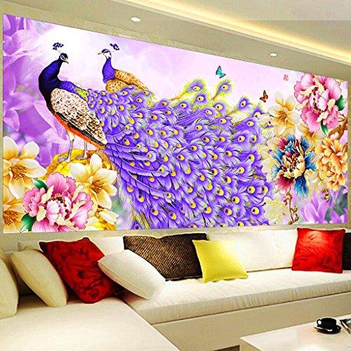 Peacock Flower DIY 5D Diamant Gemälde Full Kits, Kristall Strass Stickerei Bilder Kunst Handwerk Geschenk -