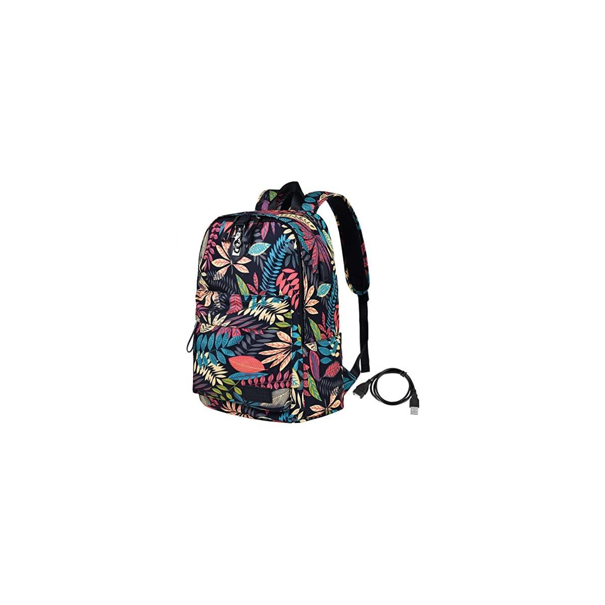 61OTBuE7aiL. SS1200  - Vbiger Bolso portátil antirrobo para niñas Bolso Escolar Elegante para portátil de 14 ''