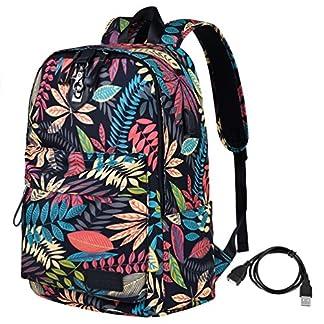61OTBuE7aiL. SS324  - Vbiger Bolso portátil antirrobo para niñas Bolso Escolar Elegante para portátil de 14 ''
