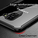 """Samsung Galaxy S9 Soft Black Silicone Cover, Case Creation® Samsung S9 Auto Focus PC + TPU Ultra-Thin Hybrid Hard Protective Case Cover Shock Absorption Back Transparent Clear Bumper Cover For Samsung Galaxy S9 / Galaxy S9 5.8""""inch 2018 - Black"""