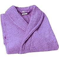 Home Basic Kids - Albornoz con capucha para niños de 14 años, color lavanda